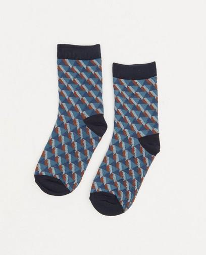 Chaussettes bleues à imprimé