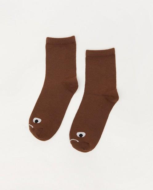 Chaussettes brunes à imprimé - avec du stretch - JBC