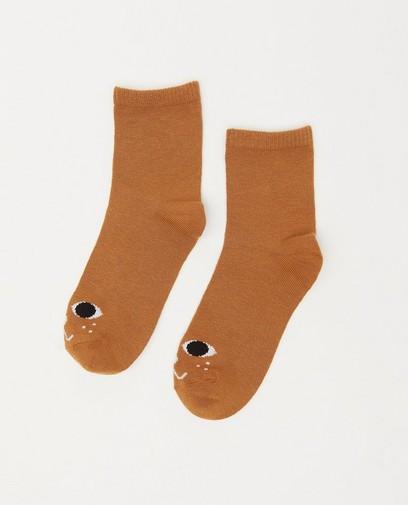 Chaussettes brunes à imprimé
