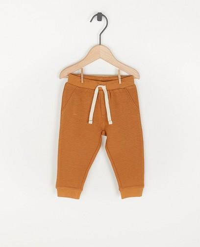 Pantalon molletonné à côtes, unisexe