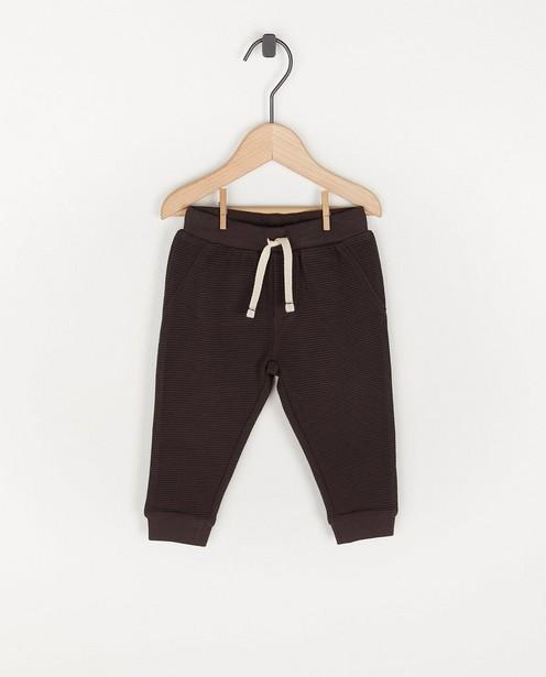 Pantalon molletonné à côtes, unisexe - avec du stretch - Cuddles and Smiles