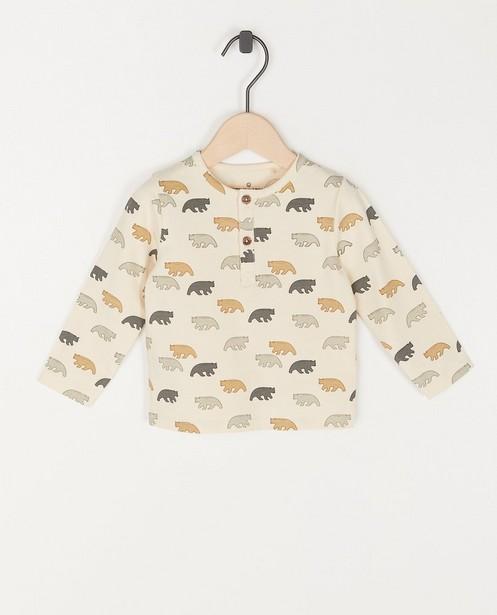 T-shirt unisexe à manches longues à imprimé animal - côtelé - Cuddles and Smiles