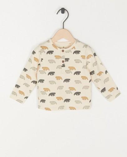 T-shirt unisexe à manches longues à imprimé animal