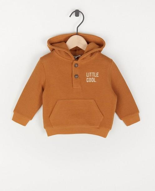 Hoodie brun côtelé unisexe - capuchon - Cuddles and Smiles