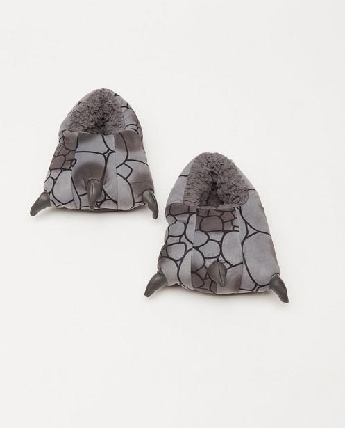 Pantoufles grises, pointure25-32 - avec des griffes - JBC
