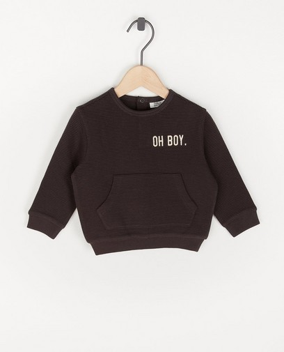 Sweater gris unisexe
