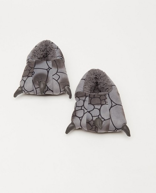 Pantoufles grise, pointure33-41 - avec des griffes - JBC