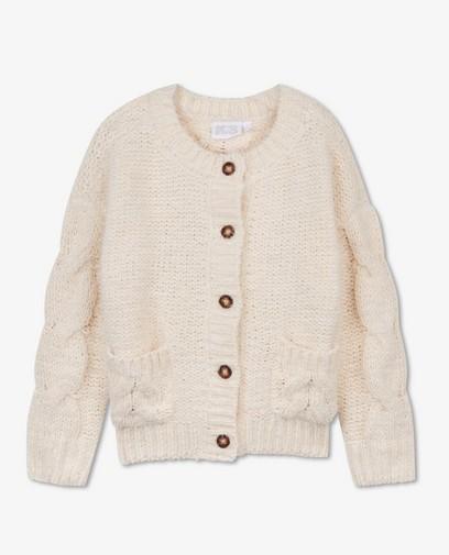 Cardigan blanc en tricot K3