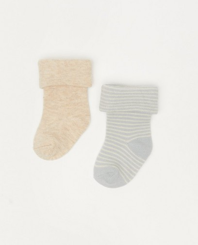 Lot de deux paires de chaussettes pour bébés