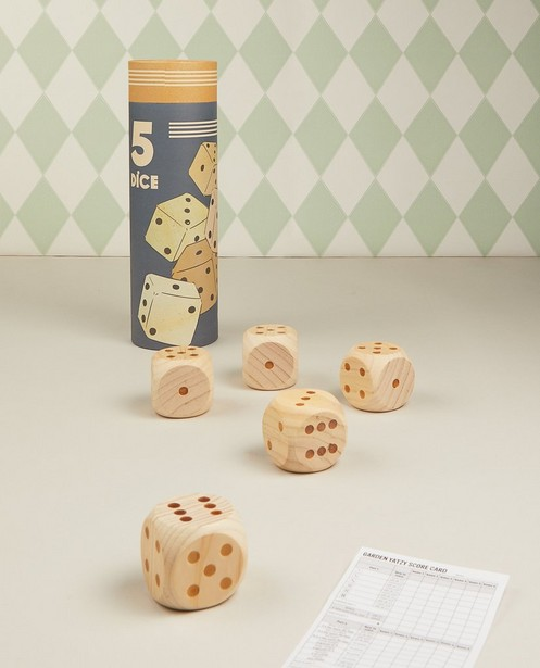 Houten dobbelstenen XL Egmont Toys - spel - JBC