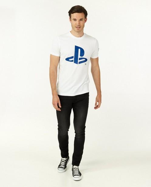 T-shirt blanc avec logo PlayStation - avec du stretch - Playstation