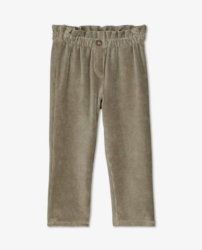 Pantalon vert en velours côtelé K3
