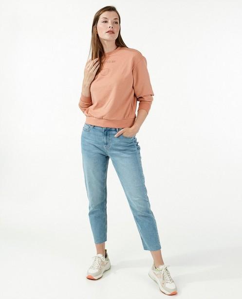Blauwe straight jeans Pieces - met mid waist - Pieces