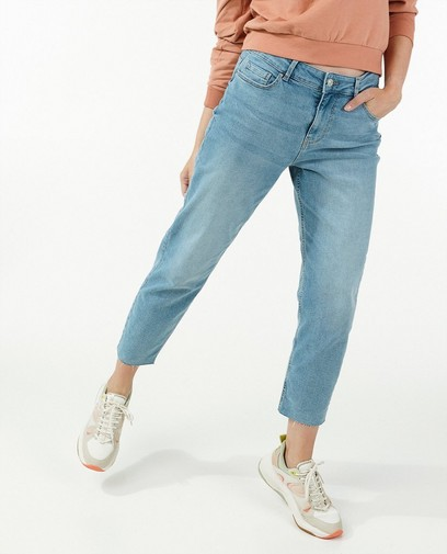 Blauwe straight jeans Pieces