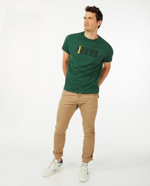 Biokatoenen T-shirt Vive le vélo - in groen - Vive le vélo