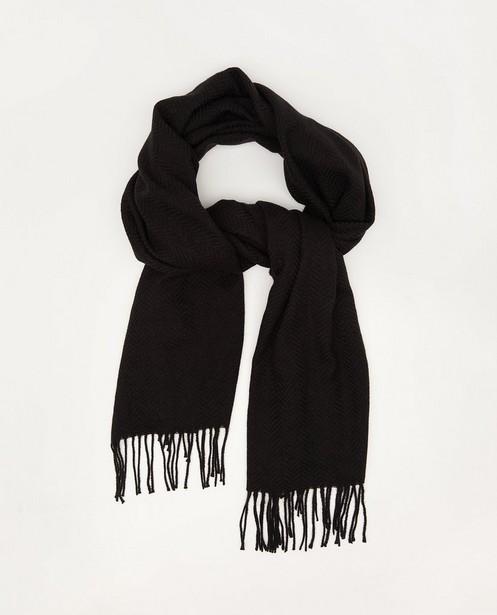 Sjaal van gerecycleerd polyester Pieces - met kwastjes - Pieces