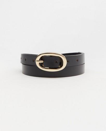 Lederen zwarte riem Pieces