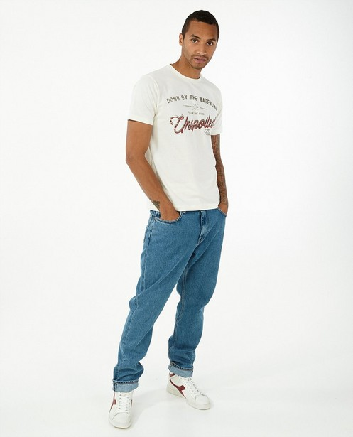 T-shirt blanc à imprimé Lerros - avec du stretch - Lerros