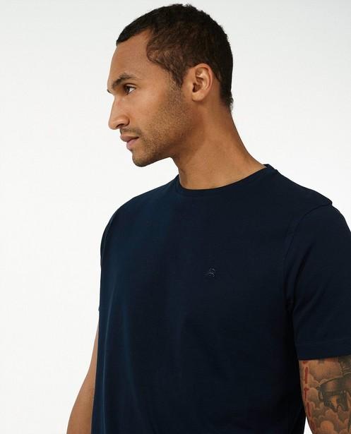 T-shirt bleu foncé Lerros - uni - Lerros