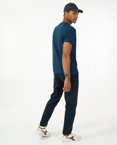 T-shirt bleu Lerros - uni - Lerros