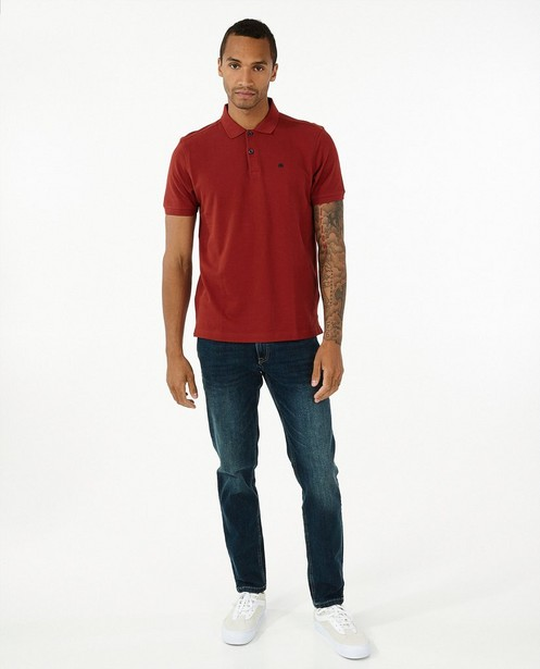 Polo brun rouge Lerros - texture fine - Lerros