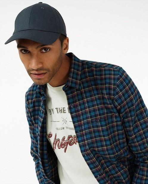 Chemise bleue à carreaux Lerros - motif intégral - Lerros