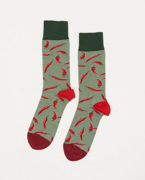 Biokatoenen kousen DillySocks, 41-46 - met print - Dilly Socks