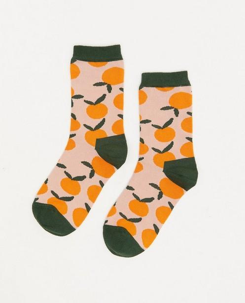 Biokatoenen kousen DillySocks, 27-34 - met print - Dilly Socks