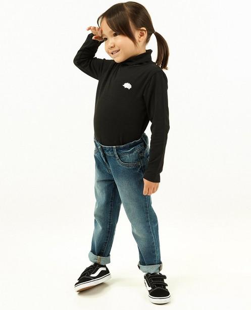 Sous-pull noir avec un écusson à paillettes - côtelé - Milla Star