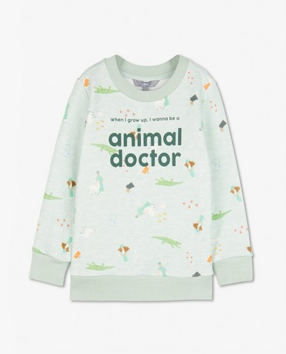 Groene unisex sweater, 2-8 jaar