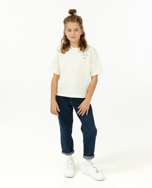 100% gerecycleerde jeans in blauw I AM - vegan dye - I AM