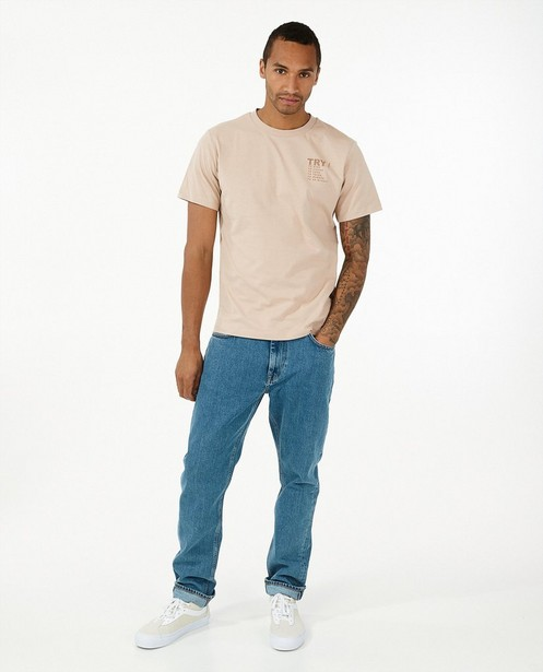 Blauwe 100% gerecycleerde jeans I AM - straight loose fit - I AM