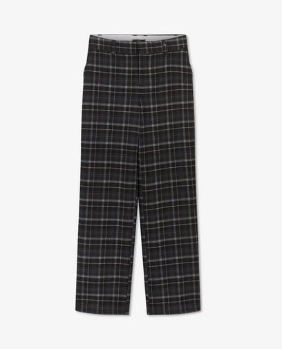 Zwarte broek met ruiten Sora