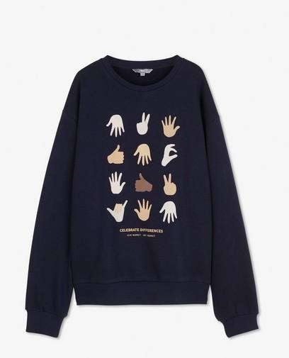 Unisex sweater met print, 9-15 jaar