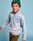 Grijze sweater met rits CKS - en print - CKS