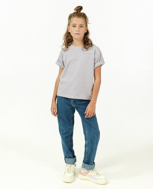 T-shirt en coton bio à inscription I AM - natural dye - I AM