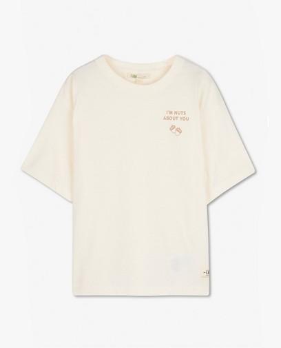 Biokatoenen T-shirt met opschrift I AM