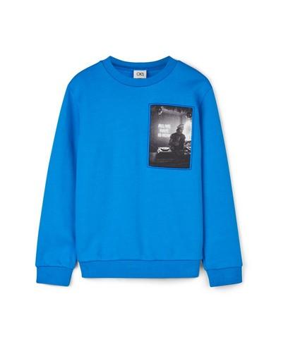 Blauwe sweater met print CKS