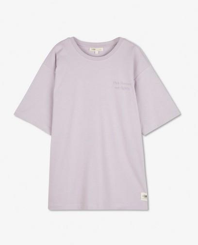 Biokatoen T-shirt in lila I AM