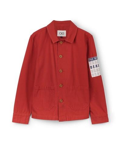 Rood vest met patch CKS