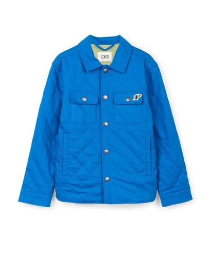 Blauw vest met reliëfpatroon CKS