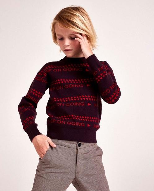 Paarse sweater met print CKS - stretch - CKS