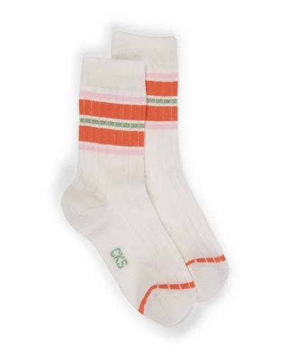 Chaussettes blanches avec côte CKS