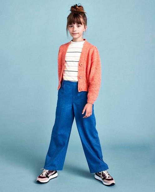 Pantalon bleu avec une ceinture CKS - à jambes larges - CKS
