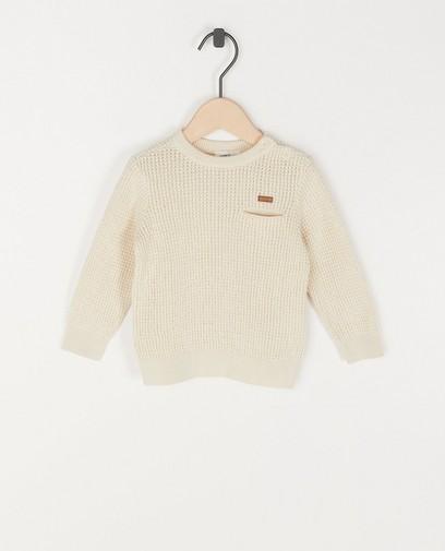 Pull beige unisexe en coton bio