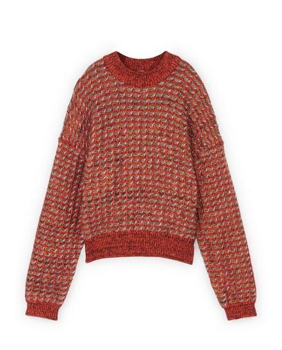 Rode trui met patroon CKS