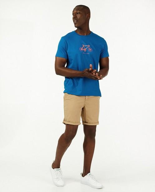Biokatoenen T-shirt Vive le vélo - in felblauw - Vive le vélo
