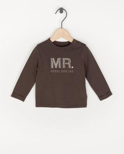 T-shirt à manches longues en coton bio avec une inscription