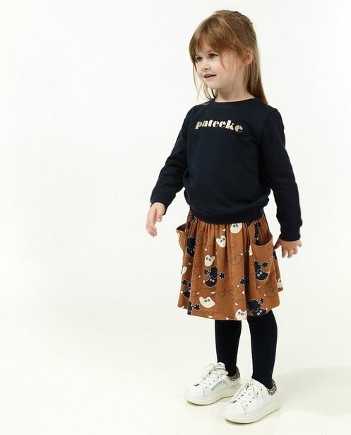 Sweater met glitteropschrift BESTies (NL) - met fleece - Besties