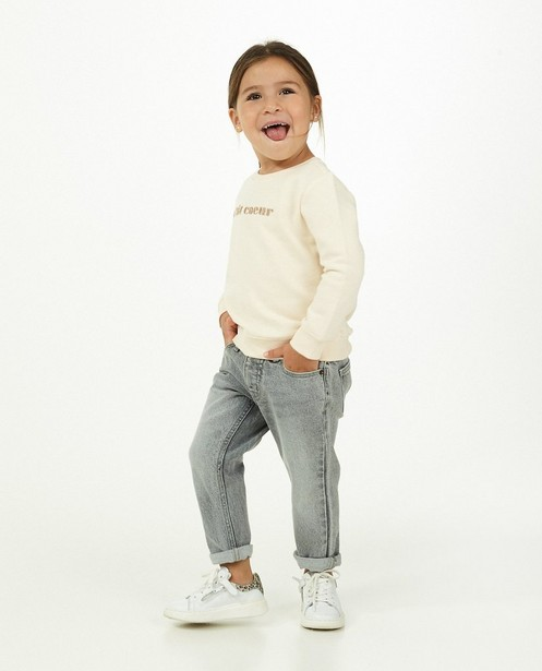 Grijze mom jeans Sam - verwassen - Milla Star